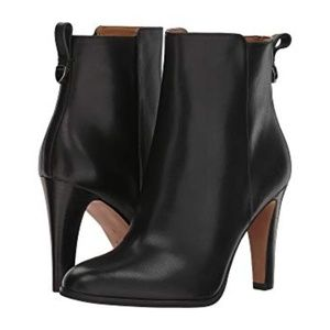 COACH Jemma Black Leather Heeled Boots